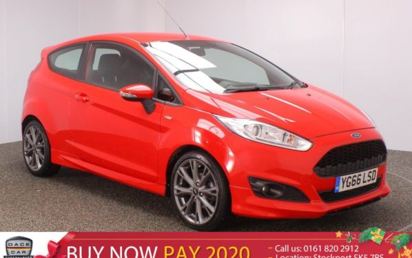 Used 2016 RED FORD FIESTA Hatchback 1.0 ST-LINE 3DR1 OWNER 139 BHP (reg. 2016-09-23) for sale in Stockport
