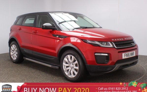Used 2016 RED LAND ROVER RANGE ROVER EVOQUE Estate 2.0 TD4 SE TECH 5DR SAT NAV HEATED LEATHER 1 OWNER AUTO 177 BHP (reg. 2016-03-04) for sale in Stockport