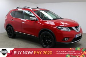 Used 2016 RED NISSAN X-TRAIL Estate 1.6 DCI TEKNA 5d 130 BHP (reg. 2016-03-24) for sale in Manchester