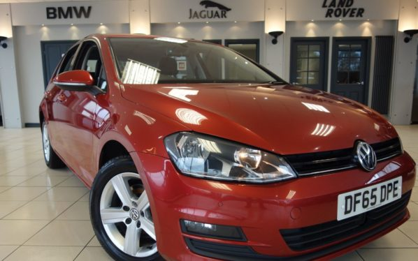 Used 2016 RED VOLKSWAGEN GOLF Hatchback 1.6 MATCH TDI BLUEMOTION TECHNOLOGY DSG 5d 109 BHP (reg. 2016-10-30) for sale in Hazel Grove