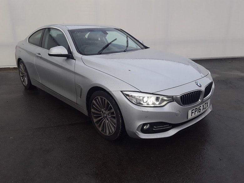 Used 2016 SILVER BMW 4 SERIES Coupe 2.0 420I LUXURY 2d AUTO 181 BHP (reg. 2016-06-03) for sale in Manchester