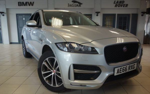Used 2016 SILVER JAGUAR F-PACE Estate 2.0 R-SPORT AWD 5d AUTO 178 BHP (reg. 2016-09-14) for sale in Hazel Grove