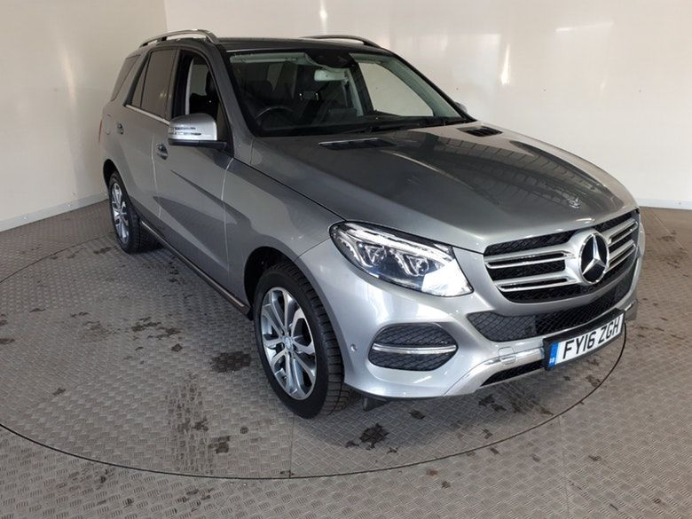 Used 2016 SILVER MERCEDES-BENZ GLE-CLASS Estate 2.1 GLE 250 D 4MATIC SPORT 5d AUTO 201 BHP SAT NAV FULL LEATHER INTERIOR (reg. 2016-04-22) for sale in Stockport