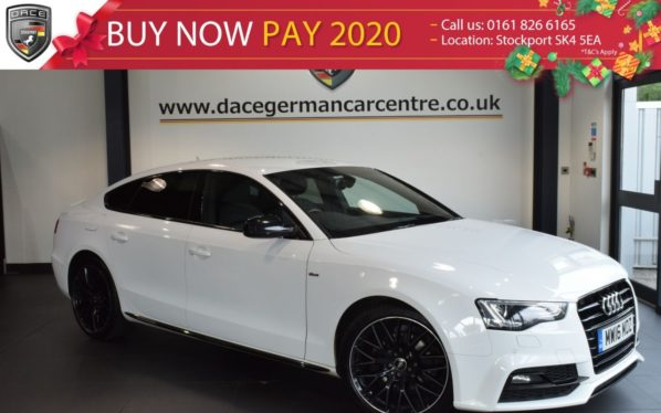 Used 2016 WHITE AUDI A5 Hatchback 2.0 TDI BLACK EDITION PLUS 5DR 187 BHP full service history (reg. 2016-06-06) for sale in Bolton