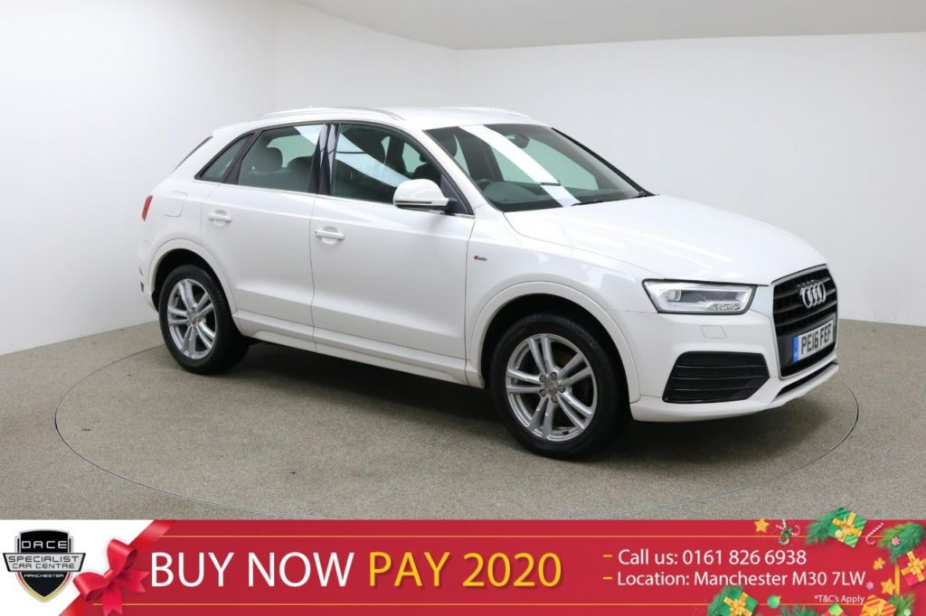 Used 2016 WHITE AUDI Q3 Estate 1.4 TFSI S LINE 5d 148 BHP (reg. 2016-03-01) for sale in Manchester