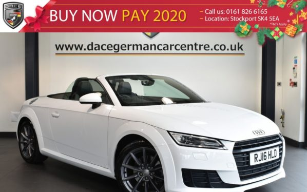 Used 2016 WHITE AUDI TT Convertible 1.8 TFSI SPORT 2DR 178 BHP full service history (reg. 2016-05-23) for sale in Bolton
