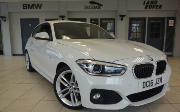 Used 2016 WHITE BMW 1 SERIES Hatchback 2.0 118D M SPORT 3d AUTO 147 BHP (reg. 2016-06-28) for sale in Hazel Grove