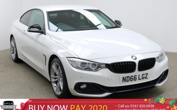 Used 2016 WHITE BMW 4 SERIES Coupe 2.0 420I SPORT 2d 181 BHP (reg. 2016-10-31) for sale in Manchester