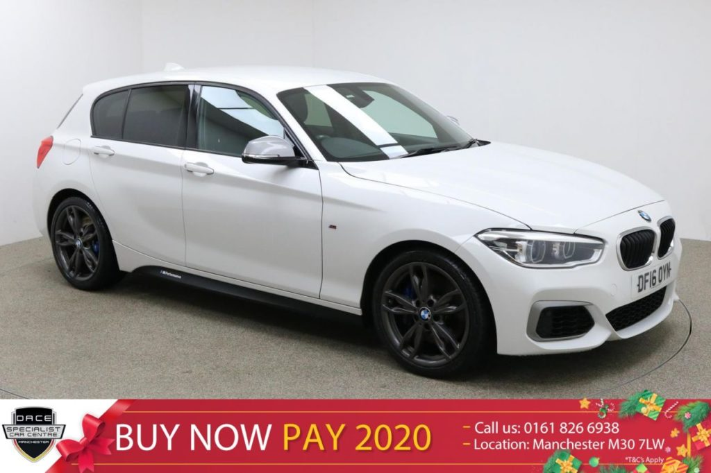 Used 2016 WHITE BMW M135I Hatchback 3.0 M135I 5d 322 BHP (reg. 2016-05-31) for sale in Manchester