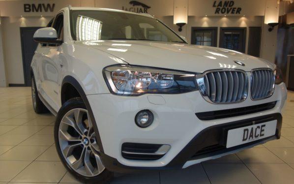 Used 2016 WHITE BMW X3 Estate 2.0 XDRIVE20D XLINE 5d 188 BHP (reg. 2016-09-29) for sale in Hazel Grove