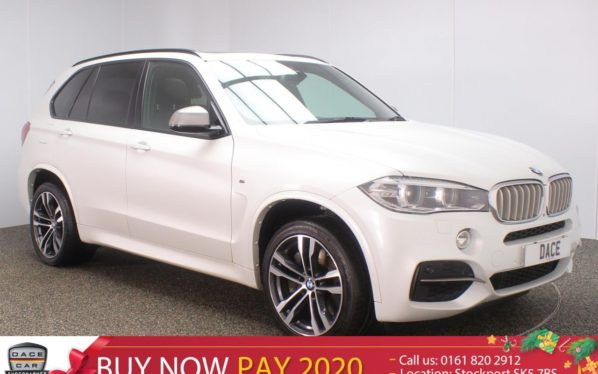 Used 2016 WHITE BMW X5 Estate 3.0 M50D 5DR AUTO 7 SEATS 376 BHP (reg. 2016-09-22) for sale in Stockport