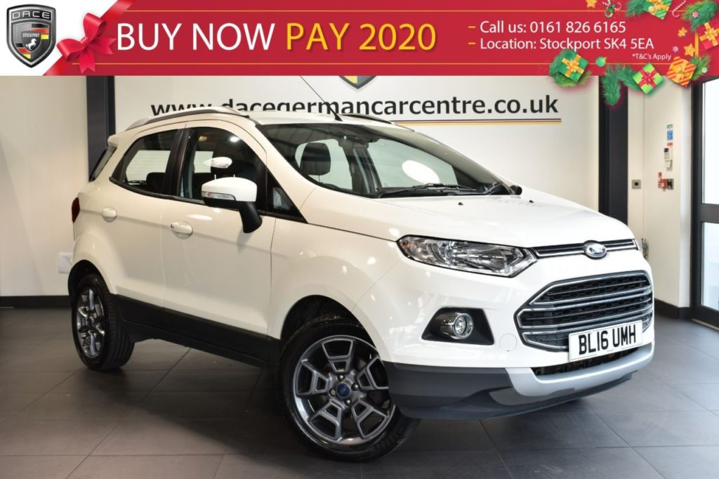 Used 2016 WHITE FORD ECOSPORT Hatchback 1.5 TITANIUM TDCI 5DR 94 BHP full ford service history (reg. 2016-06-28) for sale in Bolton
