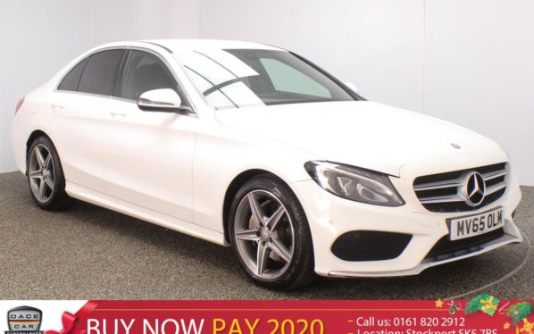 Used 2016 WHITE MERCEDES-BENZ C CLASS Saloon 1.6 C200 D AMG LINE 4DR SAT NAV HEATED LEATHER SEATS 136 BHP (reg. 2016-09-16) for sale in Stockport