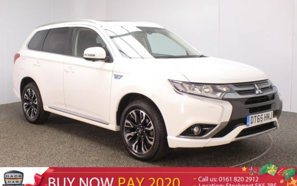 Used 2016 WHITE MITSUBISHI OUTLANDER Estate 2.0 PHEV GX 4H 5DR SAT NAV HEATED LEATHER SEATS NEW SHAPE (reg. 2016-01-28) for sale in Stockport