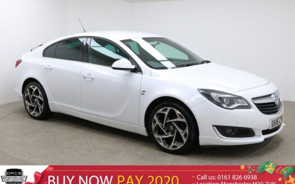 Used 2016 WHITE VAUXHALL INSIGNIA Hatchback 1.6 SRI VX-LINE CDTI S/S 5d 134 BHP (reg. 2016-03-31) for sale in Manchester