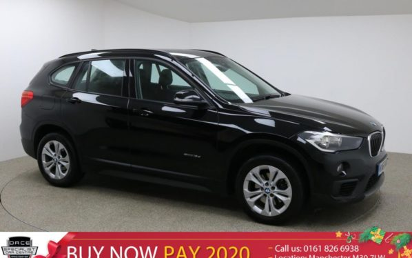 Used 2017 BLACK BMW X1 Estate 2.0 SDRIVE18D SE 5d AUTO 148 BHP (reg. 2017-11-02) for sale in Manchester