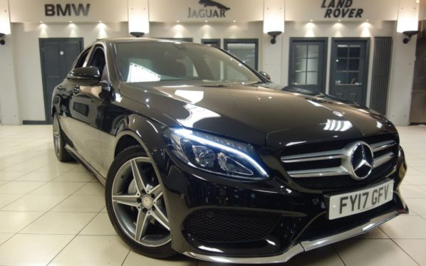 Used 2017 BLACK MERCEDES-BENZ C CLASS Saloon 2.1 C 220 D AMG LINE 4d AUTO 170 BHP (reg. 2017-03-31) for sale in Hazel Grove