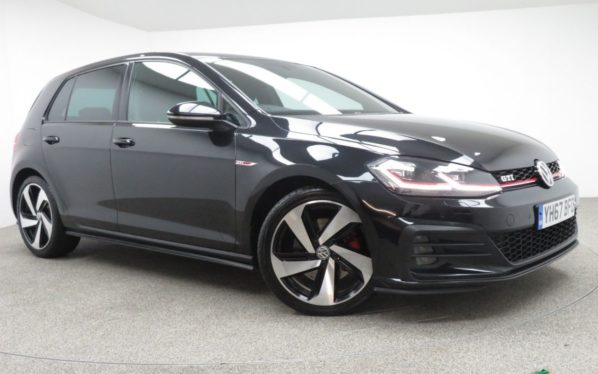 Used 2017 BLACK VOLKSWAGEN GOLF Hatchback 2.0 GTI TSI DSG 5d AUTO 227 BHP (reg. 2017-09-21) for sale in Manchester