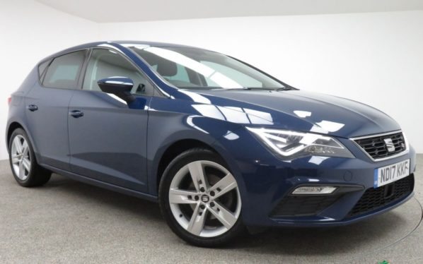 Used 2017 BLUE SEAT LEON Hatchback 1.4 TSI FR TECHNOLOGY 5d 124 BHP (reg. 2017-06-30) for sale in Manchester