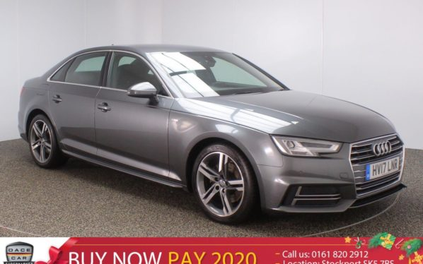 Used 2017 GREY AUDI A4 Saloon 2.0 TDI S LINE 4DR AUTO 148 BHP SAT NAV HALF LEATHER  and pound;20 TAX (reg. 2017-03-29) for sale in Stockport