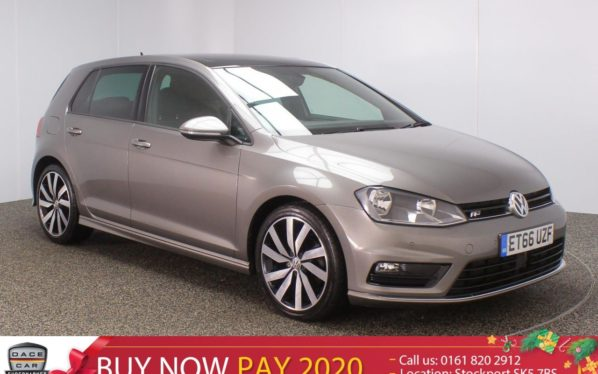 Used 2017 GREY VOLKSWAGEN GOLF Hatchback 2.0 R LINE EDITION TDI BLUEMOTION TECHNOLOGY 5DR 1 OWNER 148 BHP (reg. 2017-02-24) for sale in Stockport