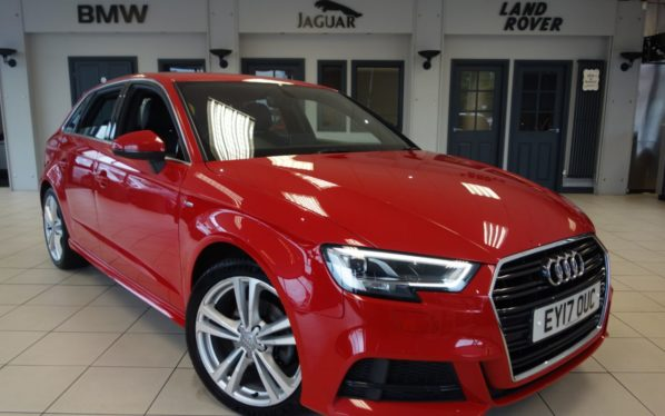 Used 2017 RED AUDI A3 Hatchback 1.6 TDI S LINE 5d 109 BHP (reg. 2017-03-02) for sale in Hazel Grove