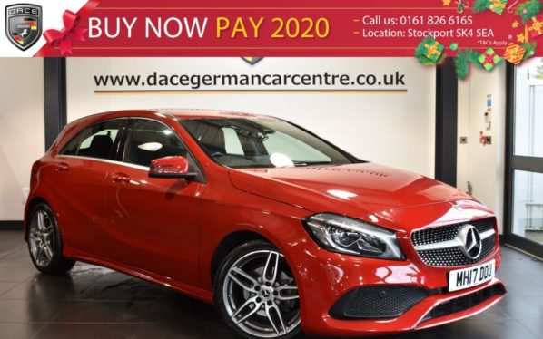 Used 2017 RED MERCEDES-BENZ A CLASS Hatchback 1.6 A 200 AMG LINE PREMIUM 5DR AUTO 154 BHP full service history (reg. 2017-08-23) for sale in Bolton