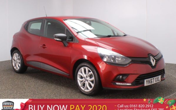 Used 2017 RED RENAULT CLIO Hatchback 1.1 PLAY 5DR HALF LEATHER 1 OWNER 73 BHP (reg. 2017-09-29) for sale in Stockport