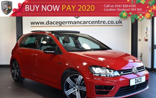 Used 2017 RED VOLKSWAGEN GOLF Hatchback 2.0 R DSG 5DR AUTO 298 BHP full service history (reg. 2017-03-01) for sale in Bolton