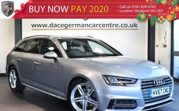 Used 2017 SILVER AUDI A4 AVANT Saloon 2.0 TDI S LINE 4DR AUTO 148 BHP full service history (reg. 2017-09-22) for sale in Bolton