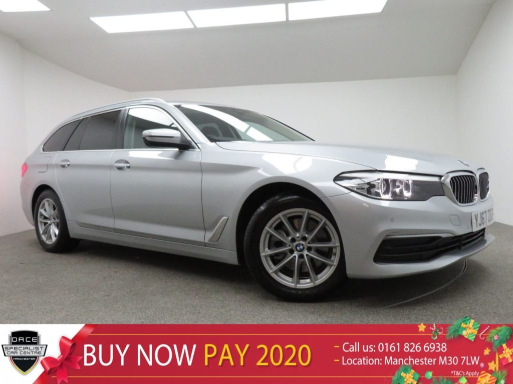 Used 2017 SILVER BMW 5 SERIES Estate 2.0 520D XDRIVE SE TOURING 5d AUTO 188 BHP (reg. 2017-09-22) for sale in Manchester