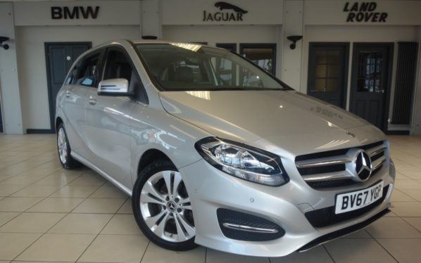 Used 2017 SILVER MERCEDES-BENZ B CLASS MPV 1.6 B 200 SPORT EXECUTIVE 5d 154 BHP (reg. 2017-09-22) for sale in Hazel Grove