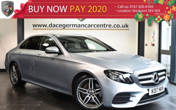Used 2017 SILVER MERCEDES-BENZ E CLASS Saloon 2.0 E 220 D AMG LINE 4DR AUTO 192 BHP (NEW SHAPE) full mercedes service history (reg. 2017-05-31) for sale in Bolton