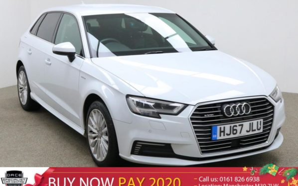 Used 2017 WHITE AUDI A3 Hatchback 1.4 SPORTBACK E-TRON 5d AUTO 101 BHP (reg. 2017-09-29) for sale in Manchester