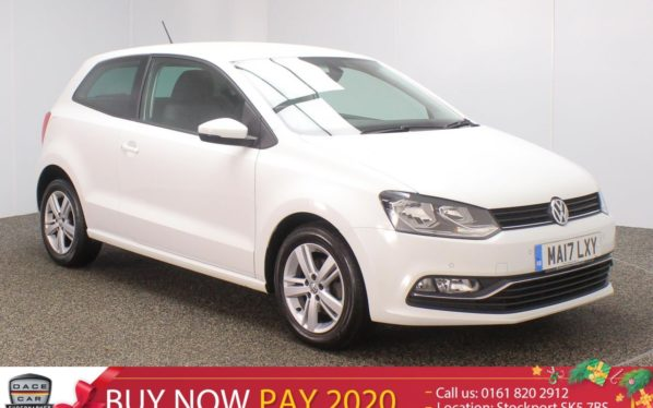 Used 2017 WHITE VOLKSWAGEN POLO Hatchback 1.2 MATCH EDITION TSI 3DR 1 OWNER 89 BHP (reg. 2017-03-20) for sale in Stockport