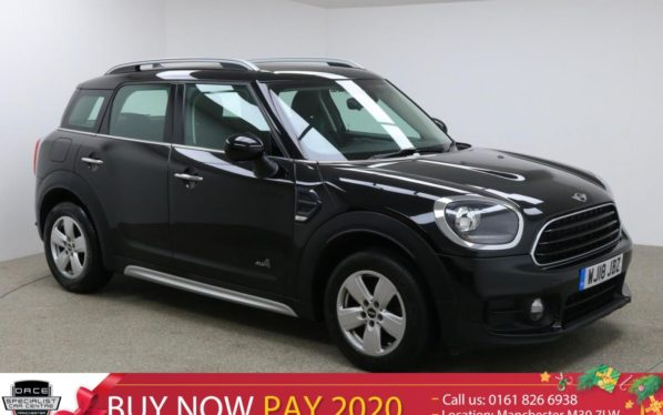 Used 2018 BLACK MINI COUNTRYMAN Hatchback 1.5 COOPER ALL4 4x4 5d 134 BHP (reg. 2018-03-19) for sale in Manchester