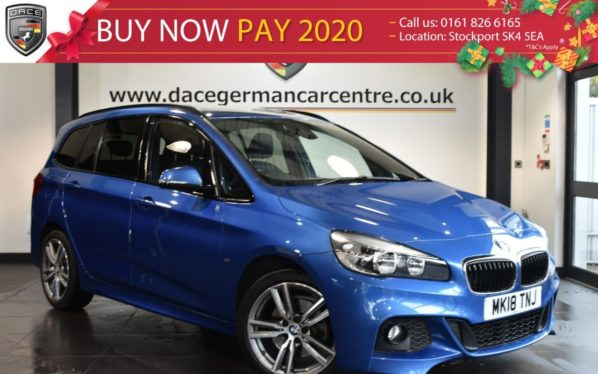 Used 2018 BLUE BMW 2 Series GRAN TOURER MPV 2.0 218D M SPORT  AUTO 5DR (7 SEATS) 148 BHP + FSH + (reg. 2018-03-01) for sale in Bolton