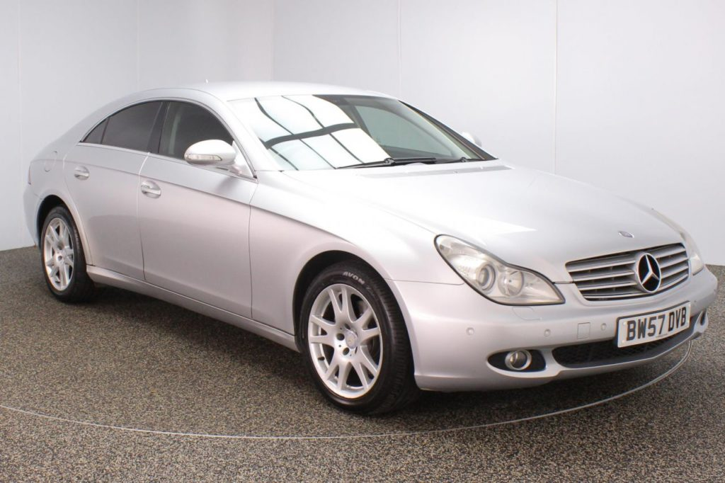 Used 2008 SILVER MERCEDES-BENZ CLS CLASS Coupe 3.0 CLS320 CDI 4DR 222 BHP (reg. 2008-02-29) for sale in Stockport
