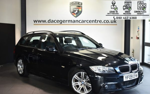Used 2009 BLACK BMW 3 SERIES Estate 2.0 318D M SPORT TOURING 5DR AUTO 141 BHP (reg. 2009-07-30) for sale in Bolton