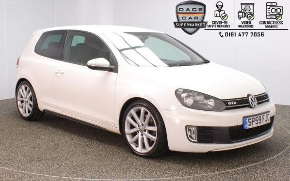 Used 2009 WHITE VOLKSWAGEN GOLF Hatchback 2.0 GTD TDI 3DR 170 BHP (reg. 2009-09-25) for sale in Stockport