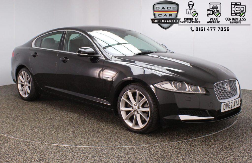 Used 2012 BLACK JAGUAR XF Saloon 3.0 V6 PREMIUM LUXURY 4DR AUTO 240 BHP (reg. 2012-09-24) for sale in Stockport