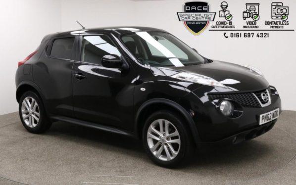 Used 2012 BLACK NISSAN JUKE Hatchback 1.6 ACENTA PREMIUM 5d 117 BHP (reg. 2012-09-11) for sale in Manchester