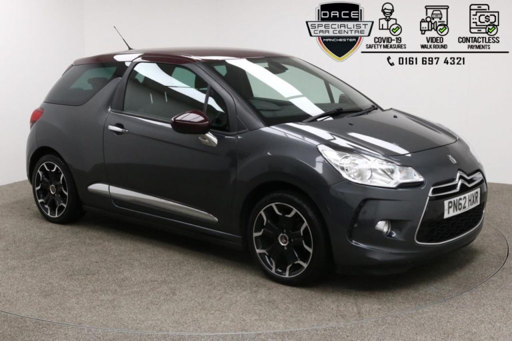 Used 2012 GREY CITROEN DS3 Hatchback 1.6 DSTYLE PLUS 3d 120 BHP (reg. 2012-09-26) for sale in Manchester