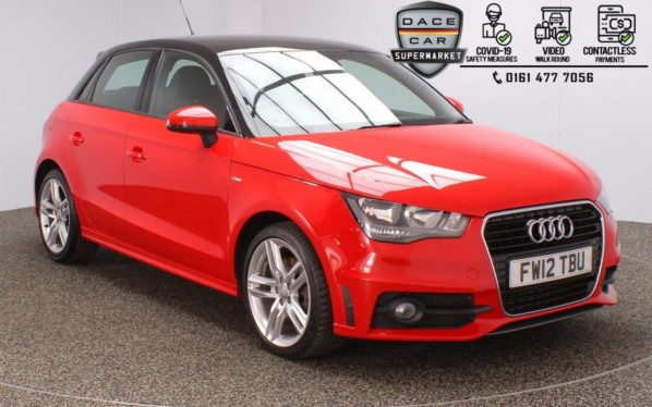 Used 2012 RED AUDI A1 Hatchback 1.6 SPORTBACK TDI S LINE 5DR 105 BHP (reg. 2012-06-13) for sale in Stockport