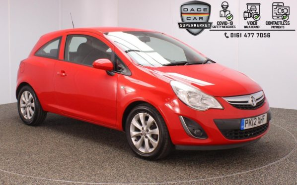 Used 2012 RED VAUXHALL CORSA Hatchback 1.2 ACTIVE AC 3DR 83 BHP (reg. 2012-06-21) for sale in Stockport
