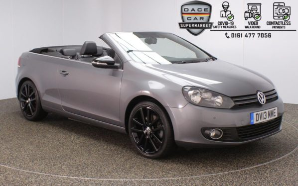 Used 2013 GREY VOLKSWAGEN GOLF Convertible 2.0 GT TDI BLUEMOTION TECHNOLOGY 2DR 139 BHP (reg. 2013-04-30) for sale in Stockport