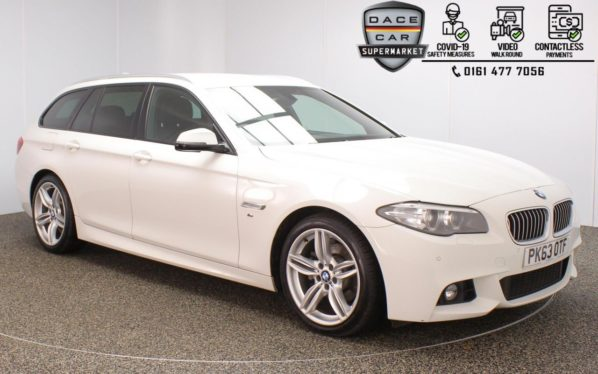 Used 2013 WHITE BMW 5 SERIES Estate 2.0 520D M SPORT TOURING 5DR AUTO 181 BHP (reg. 2013-09-30) for sale in Stockport
