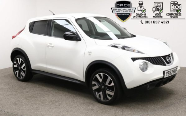 Used 2013 WHITE NISSAN JUKE Hatchback 1.5 DCI N-TEC 5d 109 BHP (reg. 2013-10-31) for sale in Manchester
