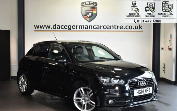 Used 2014 BLACK AUDI A1 Hatchback 1.4 SPORTBACK TFSI S LINE 5DR 122 BHP (reg. 2014-07-11) for sale in Bolton