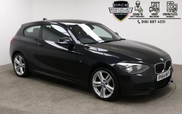 Used 2014 BLACK BMW 1 SERIES Hatchback 2.0 118D M SPORT 3d 141 BHP (reg. 2014-10-09) for sale in Manchester
